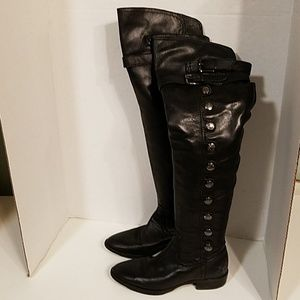Sam Edelman Pierce Leather Over the Knee Boots